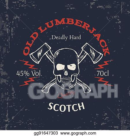 Vector Illustration - Whiskey label design  t-shirt print