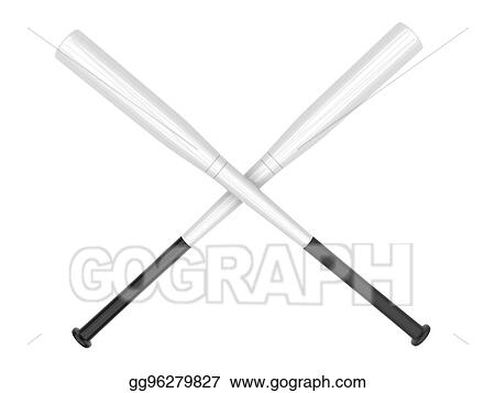 Stock Image White Baseball Bats Crossed Stock Photo Gg96279827