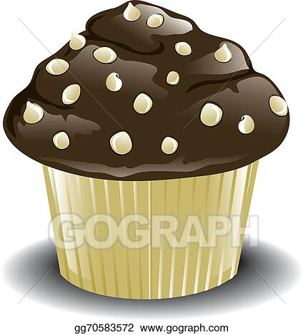Drawing White Chocolate Muffin Clipart Drawing Gg70583572 Gograph
