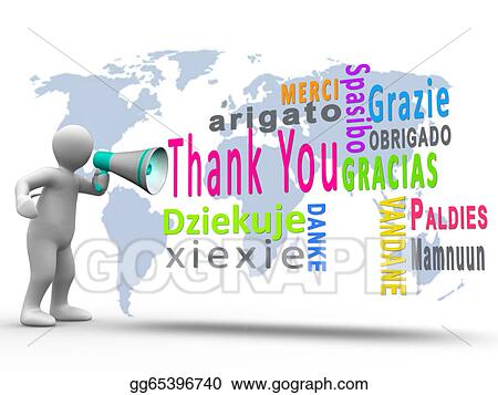 stock illustration white figure revealing thank you in different rh gograph com thank you in other languages clipart Thank You in Different Languages List