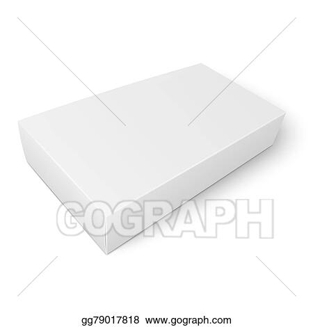 Eps illustration white flat paper box template vector clipart white flat paper box template maxwellsz