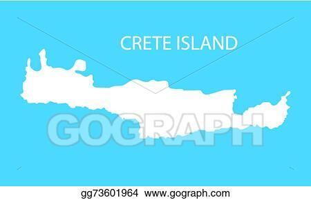 Vector Art White Map Of Crete Eps Clipart Gg73601964 Gograph