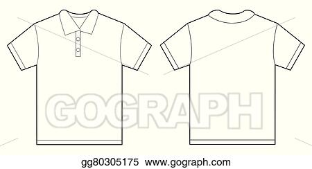vector stock white polo shirt design template for men clipart