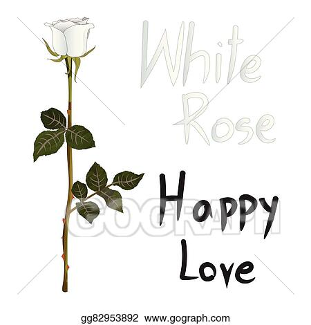 Vector Art White Rose Meaning Isolated On White Background