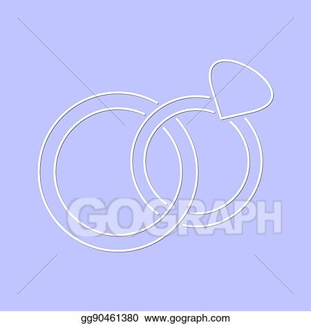 Vector Art White Simple Vector Wedding Rings Icon Eps Clipart