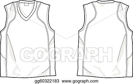Vector clipart white sleeveless shirt vector illustration vector clipart white sleeveless shirt template front and back easy colorable vector vector illustration gg60322183 pronofoot35fo Images
