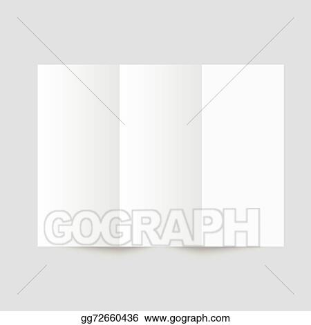 vector stock white stationery blank trifold paper brochure