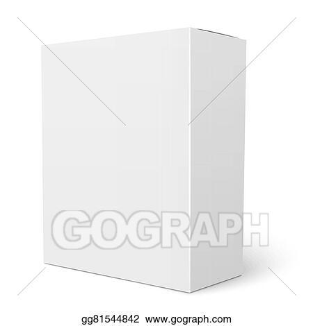 vector stock white vertical cardboard box template stock clip art