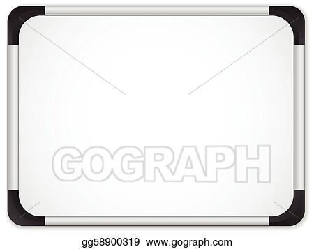 vector stock whiteboard metal border insert your message clipart rh gograph com whiteboard clipart whiteboard pen clipart