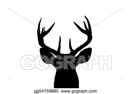 Deer Silhouette Clipart , Png Download - Buck Deer Silhouette Png,  Transparent Png - vhv