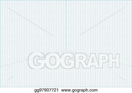 Vector Stock  Wide Angle Isometric Grid Graph Paper Background