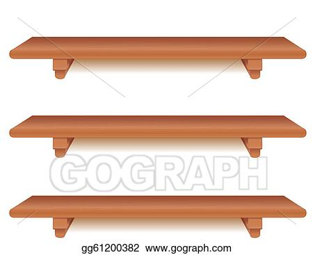 Wide Cherry Wood Shelves