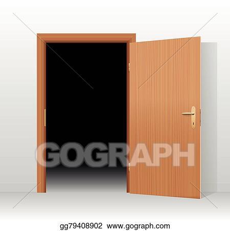 Open door dark Holding Canadian Wide Open Door Dark Room Gograph Vector Art Wide Open Door Dark Room Eps Clipart Gg79408902 Gograph