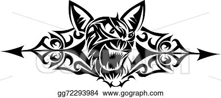 Vector Art Wild Cat Tattoo Design Vintage Engraving Eps Clipart