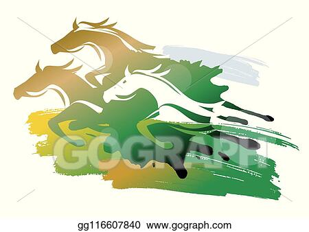 Wild Horses Stock Vector Illustration And Royalty Free Wild Horses Clipart