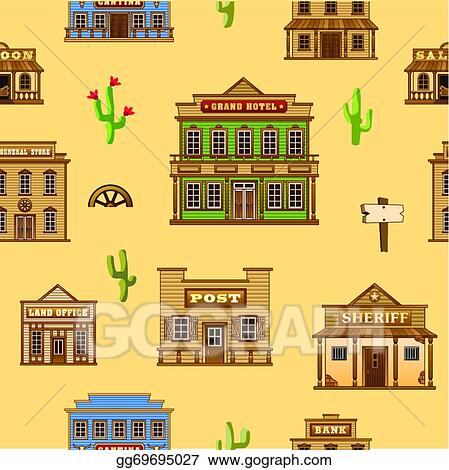 Wild West Town Panorama Background | Wild west, West town, Town drawing