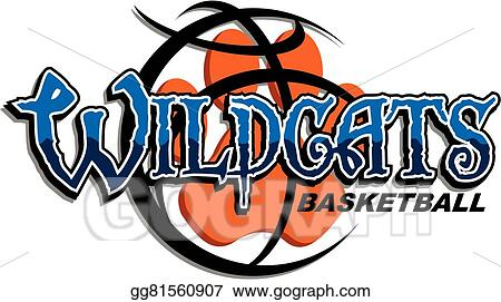 vector stock wildcats basketball stock clip art gg81560907 gograph rh gograph com kentucky wildcats clipart wildcat clipart
