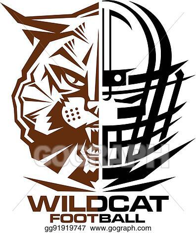 clip art vector wildcats football stock eps gg91919747 gograph rh gograph com wildcat clipart images wildcat clipart images
