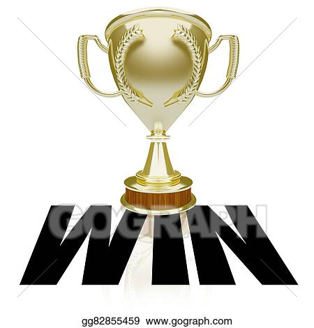 drawing win gold trophy team victory competition game award