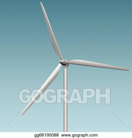Clip Art Vector - Wind generator  Stock EPS gg66195088 - GoGraph