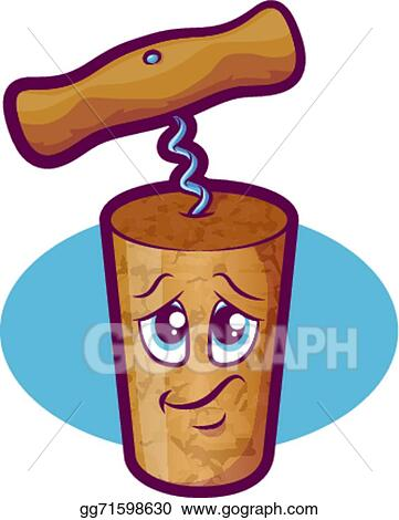 Vector Illustration Wine Cork Character Eps Clipart Gg71598630 Gograph