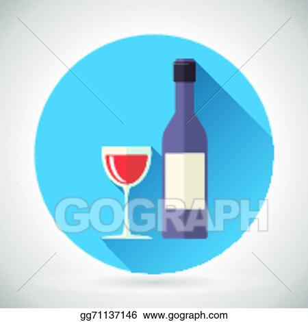 Vector Art Wine Luxury Alcohol Symbol Bottle With Stopper And