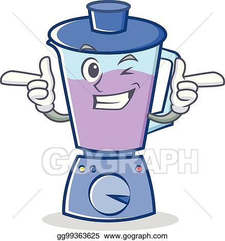 Vector Art Wink Blender Character Cartoon Style Clipart Drawing Gg99363625 Gograph