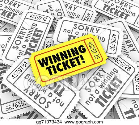 Winning Ticket One Unique Winner Raffle Lottery Prize