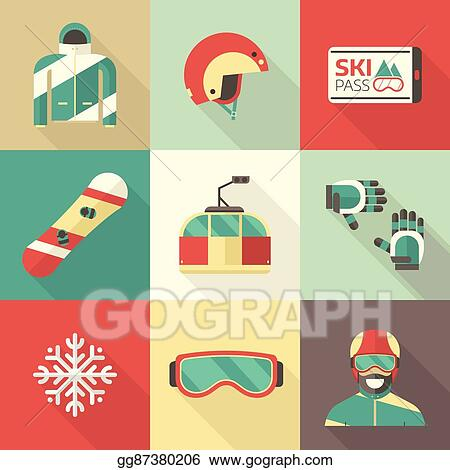 f3fea838134f Vector Stock - Winter boarding rider kit. Stock Clip Art gg87380206 ...
