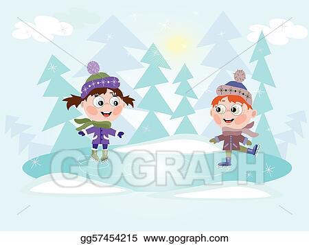 Winter Ice Skating Clip Art