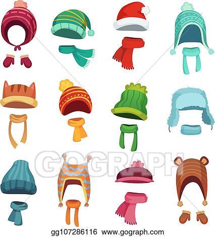 Winter Hats For Kids Clip Art