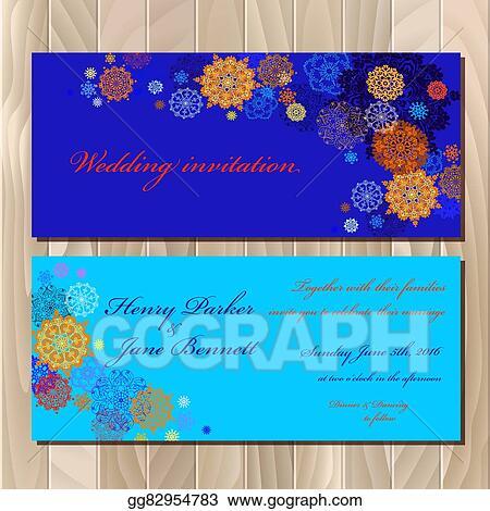 Vector Clipart Winter Snowflakes Design Wedding