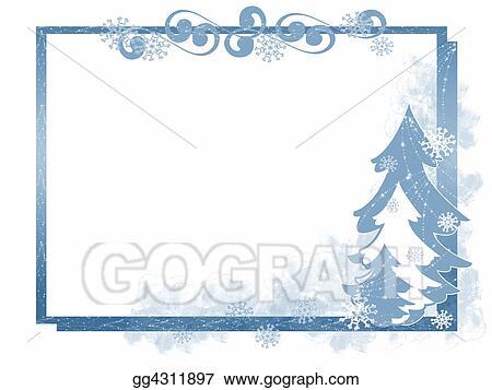 Stock Illustration - Winter tree frame. Clipart gg4311897 - GoGraph