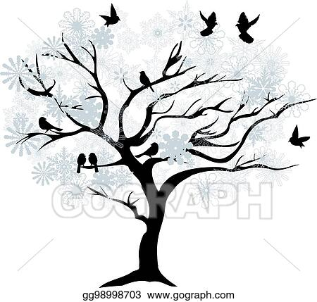 Winter Tree, Winter, Big Tree, Trees PNG Transparent Clipart Image and PSD  File for Free Download