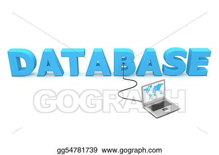 stock illustration wired to database clipart drawing gg54781739 rh gograph com database clipart transparent database clipart free