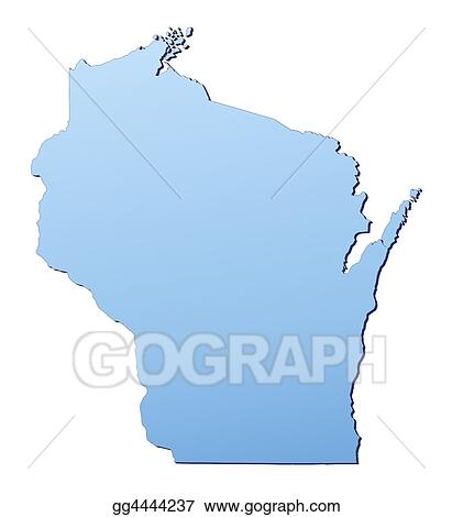 Drawings - Wisconsin(usa) map. Stock Illustration gg4444237 - GoGraph