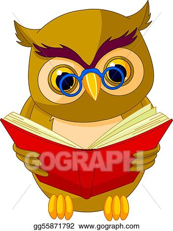 vector stock wise owl cartoon clipart illustration gg55871792 rh gograph com wise old owl clipart wise owl animated clipart