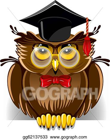 vector art wise owl clipart drawing gg62137533 gograph rh gograph com Printable Owl Clip Art Owl with Glasses Clip Art