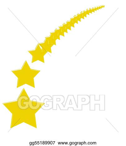 stock illustration wishing on a shooting star clipart gg55189907 rh gograph com Red Shooting Star Clip Art Arch of Shooting Stars Clip Art