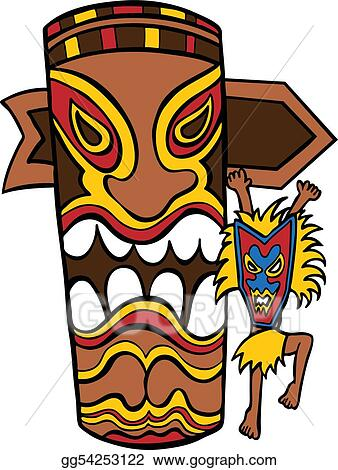 vector art witch doctor tiki idol eps clipart gg54253122 gograph rh gograph com tiki clipart vector tiki clipart png