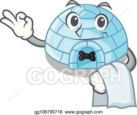 Vector Illustration - With guitar igloo ice house isolated