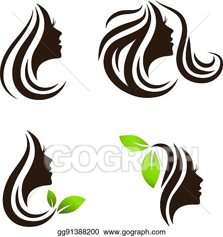 vector stock woman beauty hair spa salon logo design set clipart rh gograph com hair salon logo template hair salon logo ideas