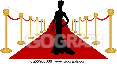 vector illustration woman silhouette red carpet vector stock clip rh gograph com