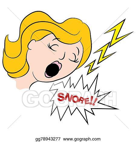 Vector Clipart Woman Snoring Loudly Cartoon Vector Illustration Gg78943277 Gograph