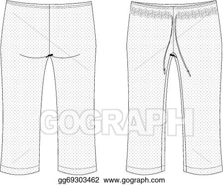 c9028118b6cf2 Vector illustration womans capri pants stock clip art jpg 450x373 Capri  pants clipart