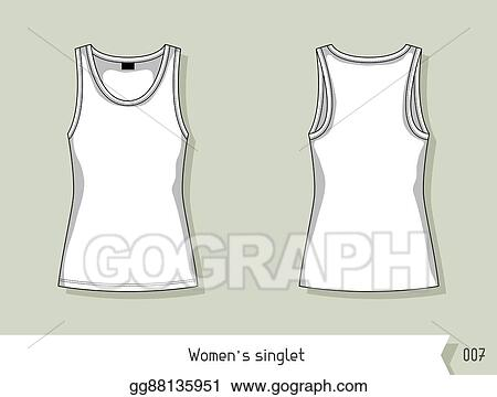 Vector stock women singlet template for design easily editable template for design easily editable by layers maxwellsz