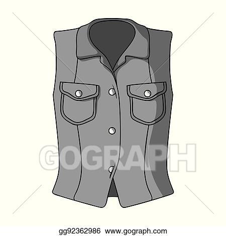 Vector Illustration - Women sleeveless sports jacket ...