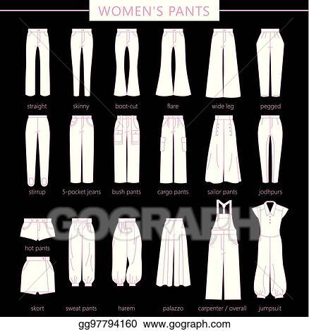 Vector Stock Women S Pants Eps Clipart Illustration Gg97794160