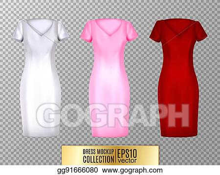 37d77c715 Women's white t-shirt with short sleeve and V-neck in front and back views.  Vector template. Fully editable handmade mesh.