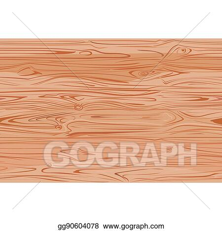 Vector Stock Wood Texture With Natural Pattern Top View Light